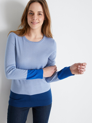 Pull manches longues 50% laine