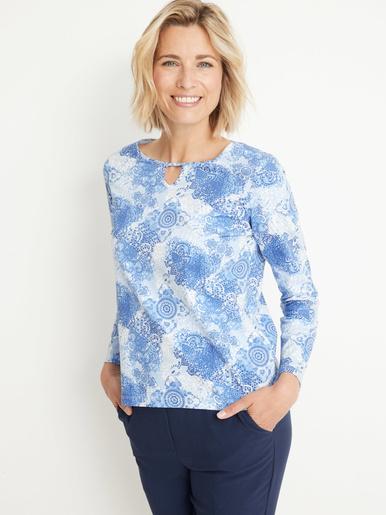 Tee-shirt vous mesurez - d'1,60m - Charmance - Imprimé bleu