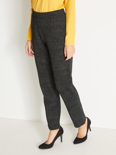 Pantalon en maille jacquard - Soldes