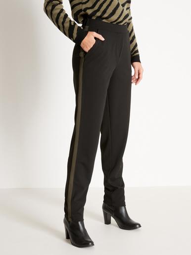 Pantalon en maille - Kocoon - Noir bande kaki