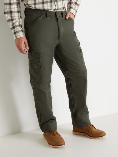 Pantalon multipoches doublé polaire - Honcelac - Kaki