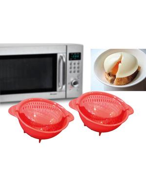 Lot 2 cuiseurs ½ufs pochés micro-ondes