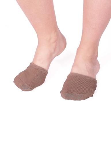 Lot 2 paires demi-chaussettes avec gel -  - Beige