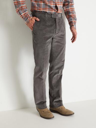 Pantalon velours à ceinture réglable - Honcelac - Gris