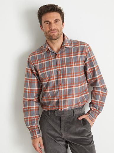 Lot de 2 chemises à carreaux en flanelle - Honcelac - Carreaux gris et marron
