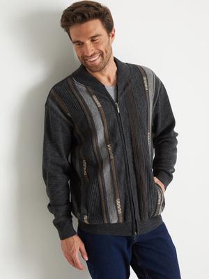 Gilet classique zippé 30% laine