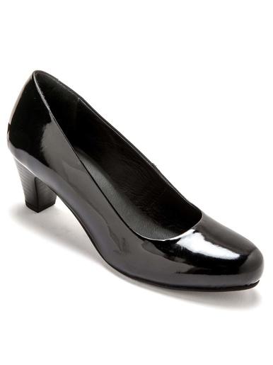 Escarpins cuir largeur confort - Pédiconfort - Verni noir
