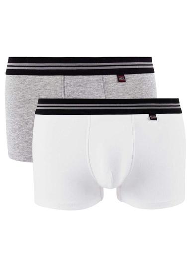 Lot de 2 boxers Gentleman - Pommpoire - Blanc/gris chiné