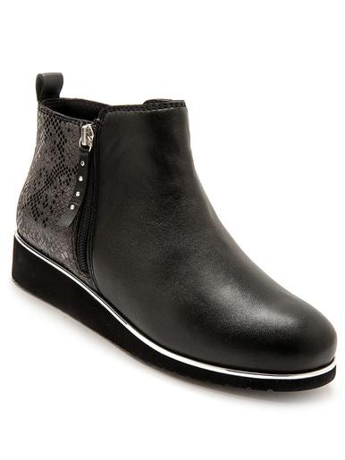 Boots double glissière à aérosemelle® - Pédiconfort - Noir uni