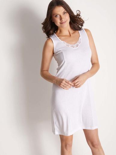 Fond de robe en douce maille - Lingerelle - Blanc