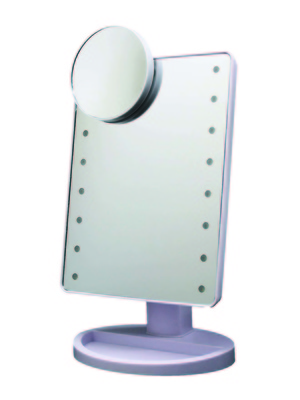 Miroir lumineux rotatif