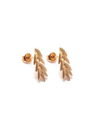 Boucles d'oreilles épis - Balsamik - Plaqué or