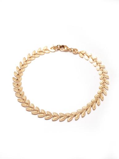 Bracelet motif épis plaqué or