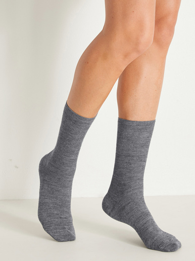 Mi-chaussettes non comprimantes lot 2 - Labonal - Gris