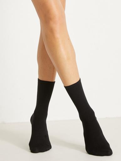 Lot 2 paires mi-chaussettes diabète - Lingerelle - Noir