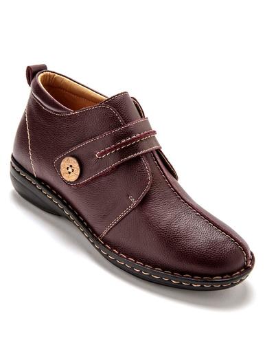 Boots tannage végétal semelle amovible - Pédiconfort - Bordeaux
