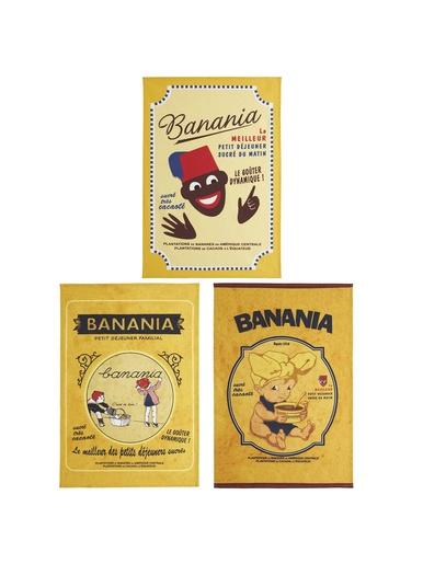 Lot de 3 torchons Banania - Coucke - Jaune