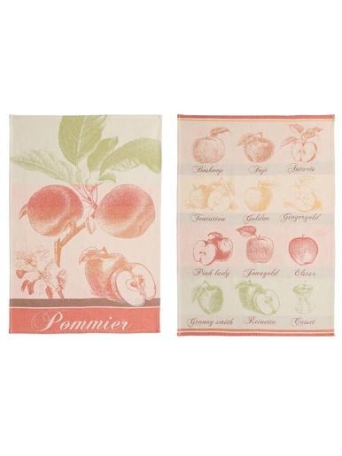 Lot 2 torchons Pommes - Coucke - Multicolore