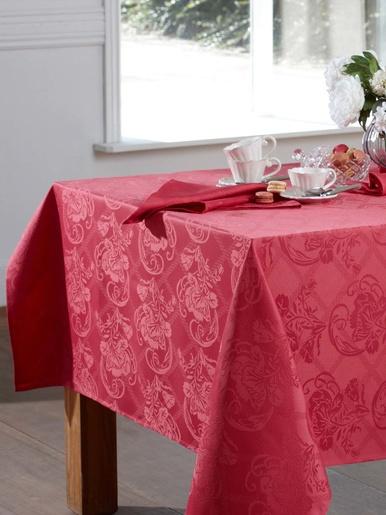 Nappe damassée Dalila - Becquet - Rose bois de rose