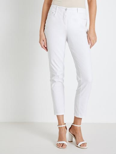 Pantalon 5 poches, élastiqué