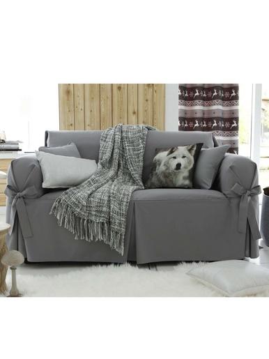 Housse de canapé 2 ou 3 places, Aberdeen - Becquet - Gris