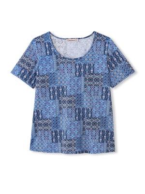 Tee-shirt imprimé patchwork