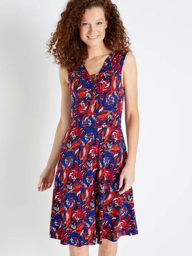 Robe sans manches, encolure fantaisie - Balsamik - Imprimé multicolore