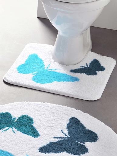 Tapis de bain Papillons - Becquet - Papillon bleu