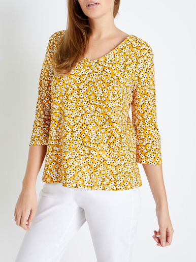 Tee-shirt pur coton, stature + d'1,60m