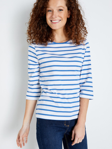 Tee-shirt marinière pur coton