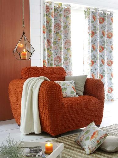 Housse de fauteuil Julia - Becquet - Orange terracotta