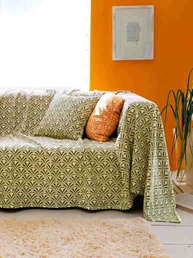 Jeté de canapé ou de lit  Calipso - Becquet - Vert bruyère