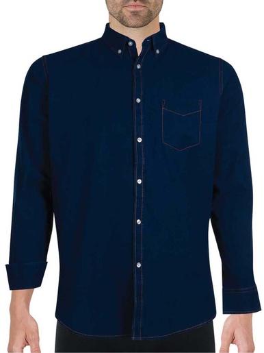 Chemise manches longues - Eminence - Bleu denim