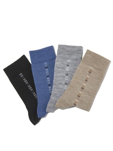 Lot de 4 paires de mi-chaussettes - Honcelac - Assortis