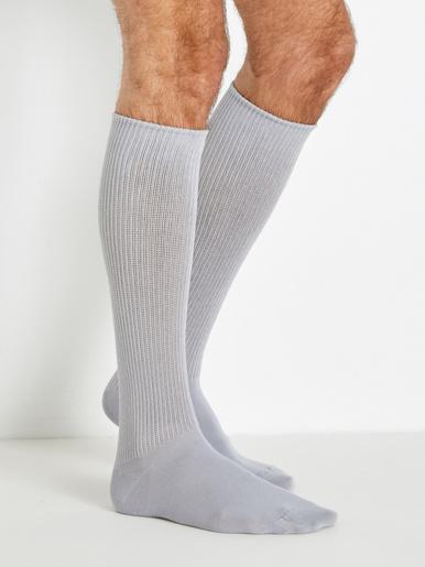 Lot 2 paires mi-chaussettes pieds larges - Labonal - Gris