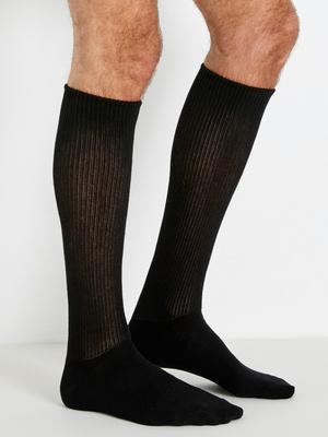 Lot 2 paires mi-chaussettes pieds larges