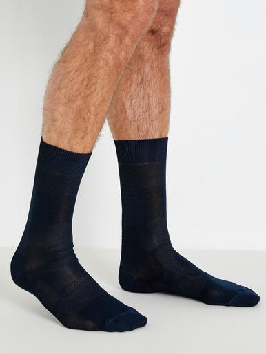 Lot 2 paires de mi-chaussettes massantes - Labonal - Marine