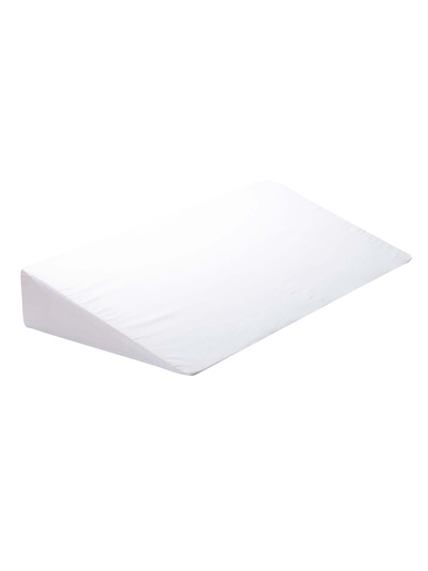 Housse en coton pour oreiller pupitre - Carré d'azur - Blanc