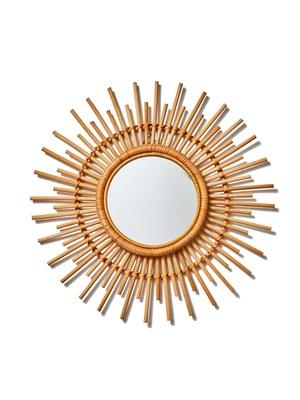 Miroir vintage en osier
