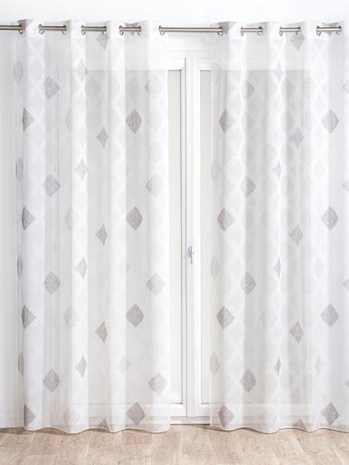 Panneau à motifs losanges contrastés - Carré d'azur - Fond blanc