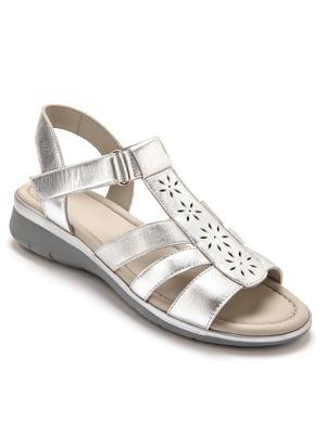 Sandales à lanières élastiquées