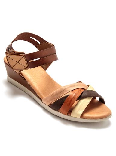Sandales aérosemelle® à mémoire de forme - Pédiconfort - Marron