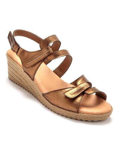 Sandales ouverture totale à aérosemelle® - Pédiconfort - Bronze