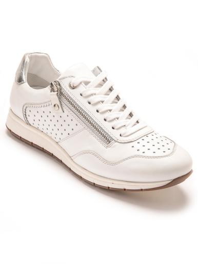 Baskets cuir à aérosemelle® amovible - Pédiconfort - Blanc