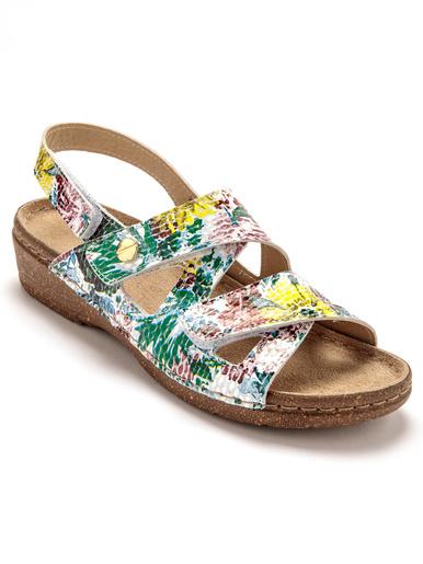 Sandales ouverture totale à aérosemelle® - Pédiconfort - Imprimé fleuri