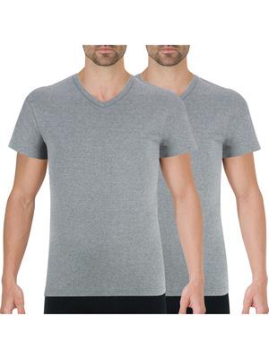 Lot de 2 tee-shirts col V Coton Bio