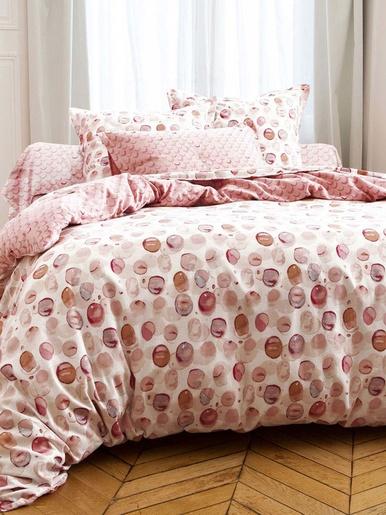 Drap-housse en flanelle imprimée - Becquet - Imprimé rose