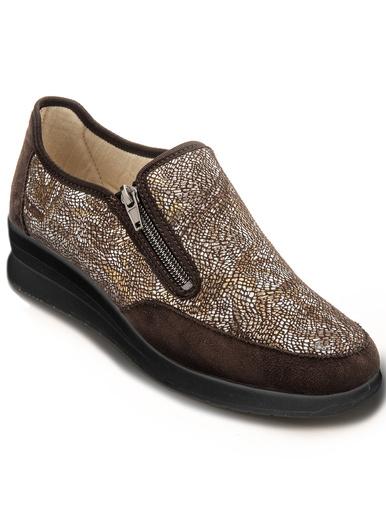 Sans-gêne spécial pieds sensibles - Pédiconfort - Imprimé marron