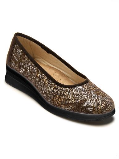 Ballerines spécial pieds sensibles - Pédiconfort - Imprimé marron