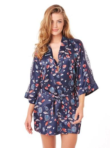 Kimono Espiègle - Pommpoire - Imprimé bleu